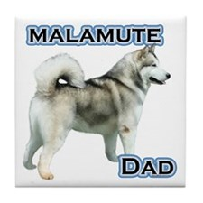 Malamute Dad4 Tile Coaster