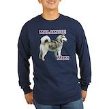 Alaskan malamute Long Sleeve T-shirts (Dark)