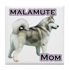 Malamute Mom4 Tile Coaster