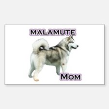 Malamute Mom4 Rectangle Decal