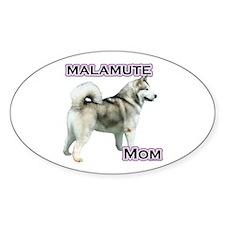 Malamute Mom4 Oval Decal