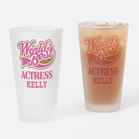 Actress Personalized Gift Drinking Glass