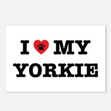 I Heart My Yorkie Postcards (package Of 8)