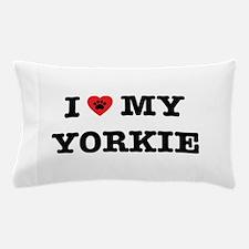 I Heart My Yorkie Pillow Case