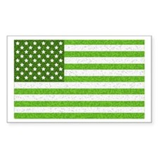 Green Stars and Stripes Rectangle Decal