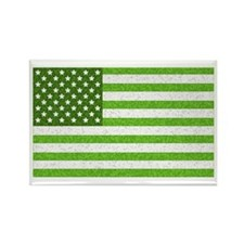 Green Stars and Stripes Rectangle Magnet