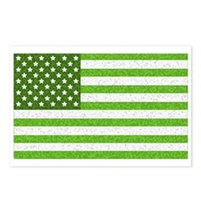 Green Stars and Stripes Postcards (Package of 8)