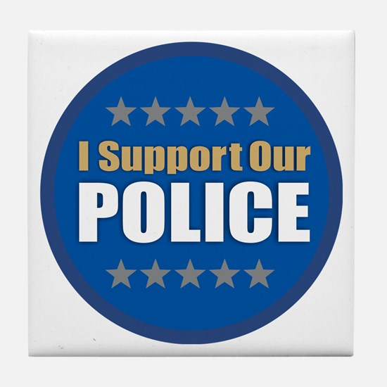 Support Police Tile Coaster