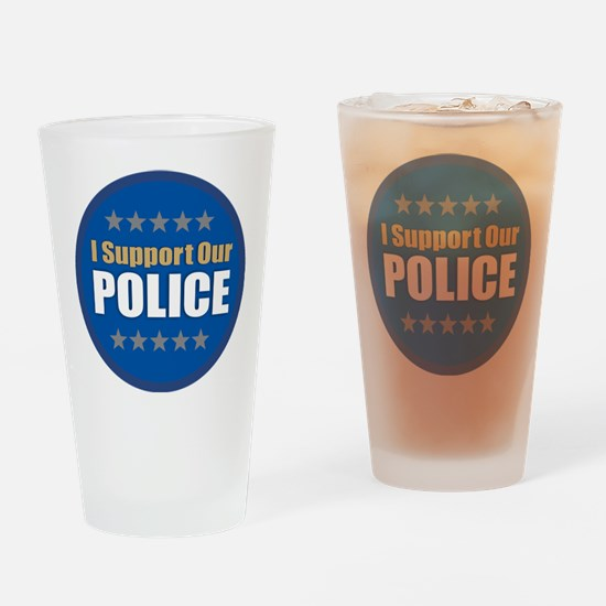 Support Police Drinking Glass
