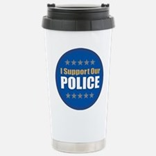 Support Police Stainless Steel Travel Mug
