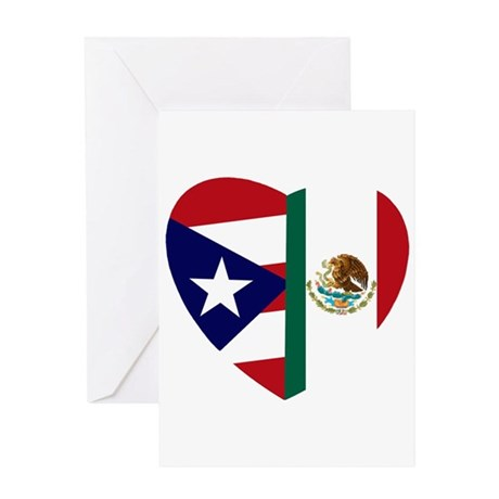 3-PRMEX FLAG updated Greeting Cards