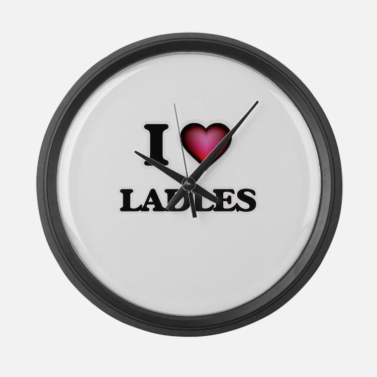 I Love Ladles Large Wall Clock