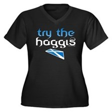 SCO Try Haggis Scotland(Alba) Women's Plus Size V-