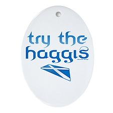 SCO Try Haggis Scotland(Alba) Oval Ornament