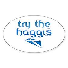SCO Try Haggis Scotland(Alba) Oval Decal