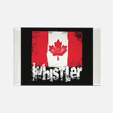 Whistler Grunge Flag Magnets