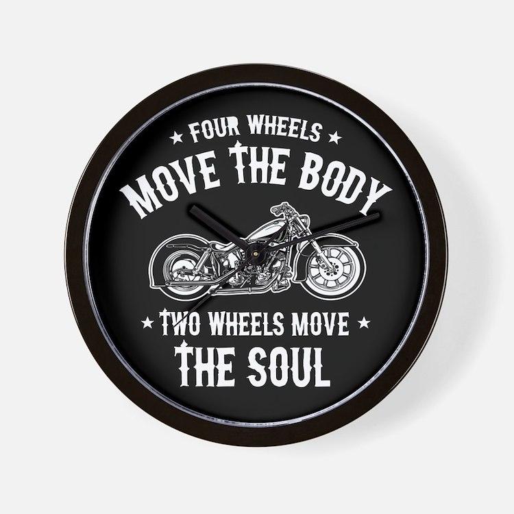 2 Wheels Move 1016 Wall Clock