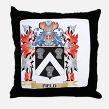 Field Coat of Arms - Family Crest Throw Pillow