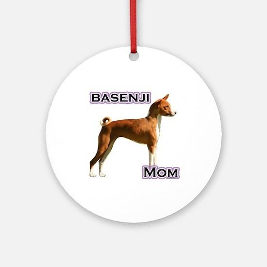 Basenji Mom4 Ornament (Round)