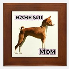 Basenji Mom4 Framed Tile