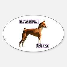 Basenji Mom4 Oval Decal