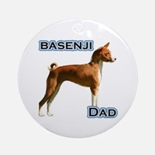 Basenji Dad4 Ornament (Round)