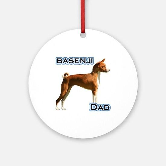 Basenji Dad4 Ornament (Round)