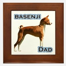 Basenji Dad4 Framed Tile