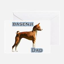 Basenji Dad4 Greeting Card