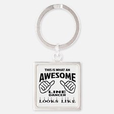 This is what an awesome Line dance Square Keychain