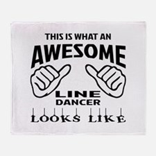 This is what an awesome Line dancer Throw Blanket