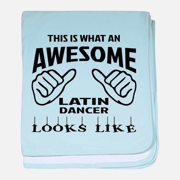 This is what an awesome Latin dancer baby blanket