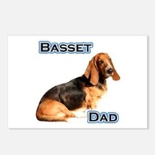 Basset Dad4 Postcards (Package of 8)