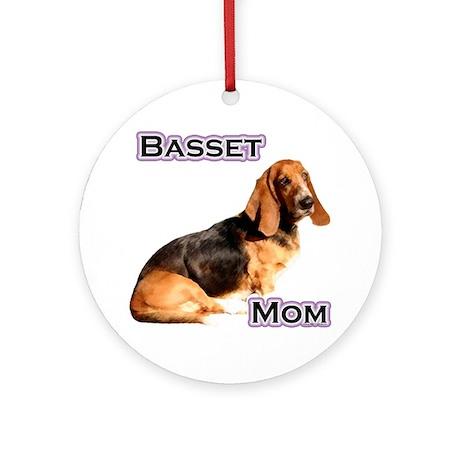 Basset Mom4 Ornament (Round)