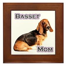 Basset Mom4 Framed Tile