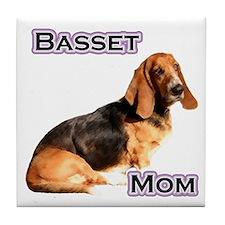 Basset Mom4 Tile Coaster