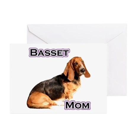 Basset Mom4 Greeting Cards (Pk of 10)