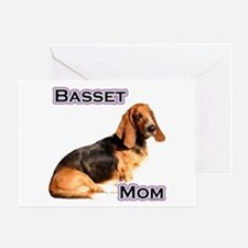 Basset Mom4 Greeting Card