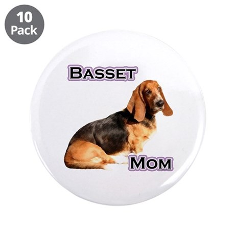 """Basset Mom4 3.5"""" Button (10 pack)"""