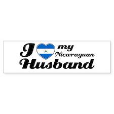 I love my Nicaraguan Husband Bumper Bumper Sticker