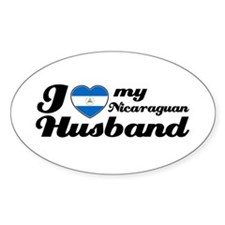 I love my Nicaraguan Husband Oval Decal