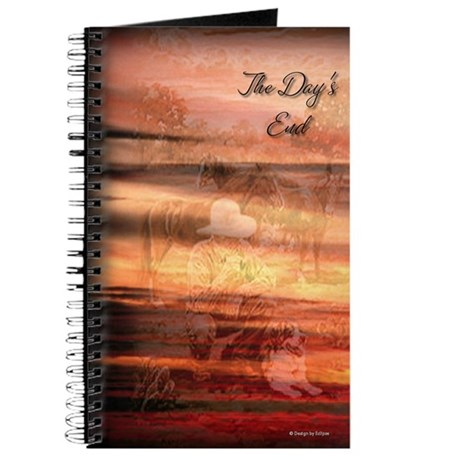 Cowboy at Days End Journal (Orange)