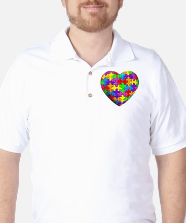 Jelly Puzzle Heart Golf Shirt