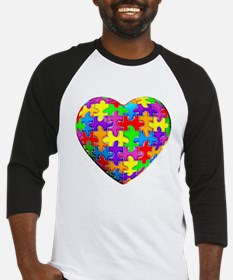 Jelly Puzzle Heart Baseball Jersey