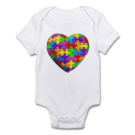 Jelly Puzzle Heart Infant Bodysuit