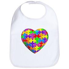 Jelly Puzzle Heart Bib