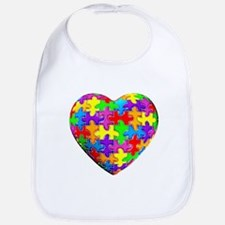 Jelly Puzzle Heart Bib