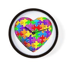 Jelly Puzzle Heart Wall Clock