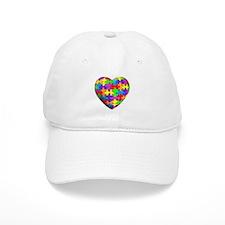 Jelly Puzzle Heart Baseball Cap
