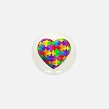 Jelly Puzzle Heart Mini Button (100 pack)